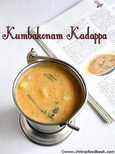 Kumbakonam Kadappa Recipe/கும்பகோணம் கடப்பா-Side Dish For Idli,Dosa(with tomato n carrot)