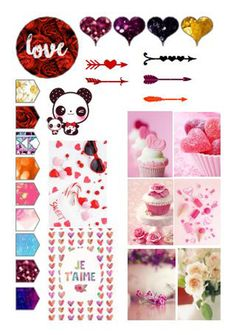 romantics stickers, dividers and pagemarkers a5 printable di Funnydreamsplanner su Etsy