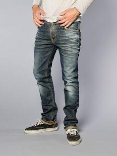 Thin Finn Organic Dark Frost - Nudie Jeans Co Online Shop Dark Jeans, Blue Jeans, Denim Art, Men's Denim, Biker Jacket Outfit, Edwin Jeans, Diesel Jeans, Nudie Jeans, Denim Fashion