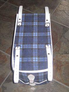 Vintage-Blue-White-Tartan-Bike-Bag-Rear-Mounting-Raleigh-Shopper-Moulton-NOS
