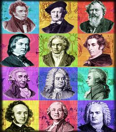 Classical Composers Music Art    Composer by ArtfulMusicianPRTLND, $20.00