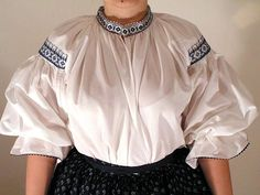 The blouse of the folk costume of Moravian Wallachia