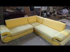 Reupholster Furniture, Diy Furniture, Diy Corner Sofa, How To Make Sofa, Wooden Sofa Set Designs, Minimalist Sofa, Art Deco Chair, Under Stairs Cupboard, Diy Sofa