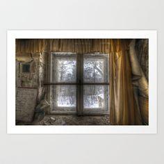 Through the dirty window  Art Print by Cozmic Photos - $22.88