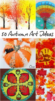 Find painting, printmaking, collage, sculpture and drawing ideas for kids - all fall themed, and all open-ended and process oriented. Plus an awesome GIVEAWAY contest with a chance to WIN $500! {One Time Through}