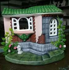 Clay Fairy House, Fairy Houses, Clay Fairies, Ceramic Bisque, Girl Cakes, Mural Art, Ceramics, Wallpaper, Outdoor Decor