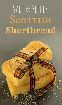 Traditional Scottish Shortbread with a twist. A little sprinkling of salt and pepper to bring it bang up to date. A fabulous Christmas gift. #christmas #christmasgifts #homemadegifts #Scottish