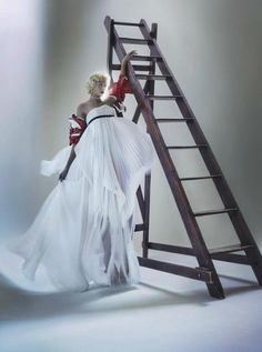 Demi Scott in Haute Couture Collection by Nick Knight V Magazine