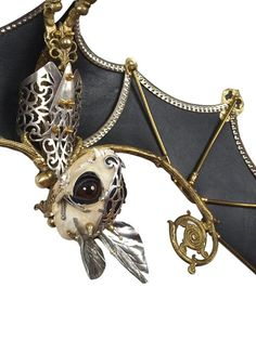 ♥ my pinky finger ♥: Meet Jessica Joslin and her menagerie, ornate and wonderful and ridiculous and full of mystery and whimsy Mode Sombre, Neo Victorian, Gothic, Halloween Bats, Unique Photo, Steampunk Fashion, Art Dolls, Mystery, Jewelry