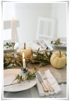 Pretty place setting for fall . .