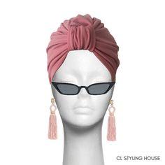 Handmade CL Stella Turban in Dusty Pink Stretchy Bon Bon Fabric. Turbans, Dusty Pink, Cl, Headbands, Stylish, Fabric, Handmade, Accessories, Fashion