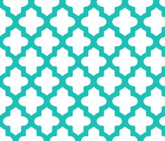 Moroccan in Turquoise fabric by fridabarlow on Spoonflower - custom fabric