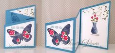 Lavender Thoughts | Annette Sullivan | Stampin' Up! Floral Wings Trifold Angle Card