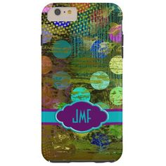 Abstract Multicolored Dots Design iPhone 6 Case