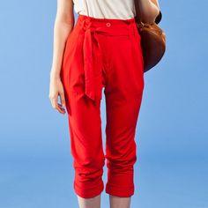 Moto Pants Red