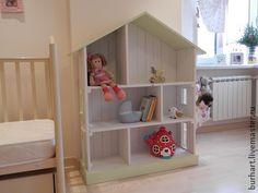 """Стеллаж""""Домик"""" - белый,стеллаж,детская мебель,книжная полка,полка,для дома и интерьера"""