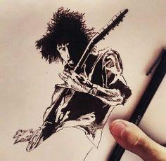 Dave Grohl -Tinta sobre papel