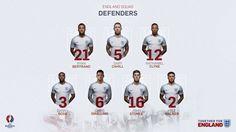 England squad - defenders