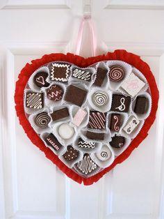 Chocolate Valentine Heart Front Door Decor by LadidaHandbags, $64.00