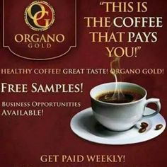 """Looking for additional income? Want to work and still stay home with the kids? Looking for full time employment? I have the solution for you! Its easy Its simple Its Coffee! Organo Gold """"The Coffee that Pays""""  http://www.ranakelty.myorganogold.com"""