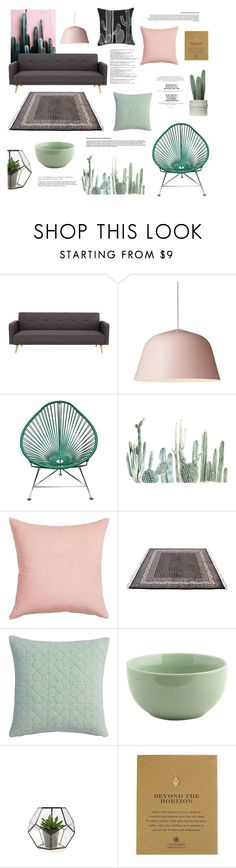 """""""Decorate with cactus"""" by rheeee ❤ liked on Polyvore featuring interior, interiors, interior design, home, home decor, interior decorating, Innit, CB2, Balmain and Dogeared"""