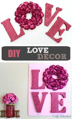 Love Decor Tutorial: Valentines Wall Art - Crafts Unleashed.     Made it ~ Love it!