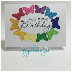 #handmadecard #handmadebirthdaycard #papercraft #papercrafts #butterflies #stamping #diecutting #papertrayink