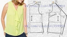 Sewing Patterns For Beginners Shirt Dress Tutorials 16 Ideas For 2019 - Her Crochet Blouse Patterns, Clothing Patterns, Blouse Designs, Shirt Dress Tutorials, Bodice Pattern, Sewing Blouses, Make Your Own Clothes, Easy Sewing Patterns, Loom Patterns