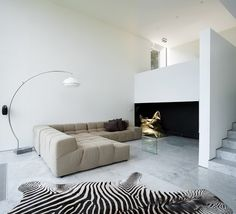 House D | by dhoore_vanweert architecten.  That couch looks like heaven!