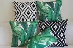 """Vintage Tommy Bahama Swaying Palms Outdoor CUSHION COVER Throw PILLOW CASE 18"""" 