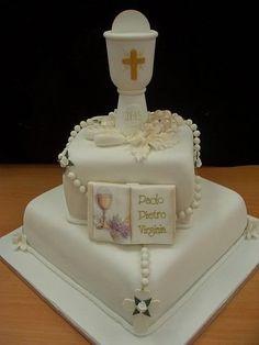 Primera comunión torta Topper Favor de rosarios Rosario de