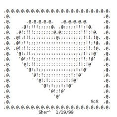 Valentine ASCII Art Hearts