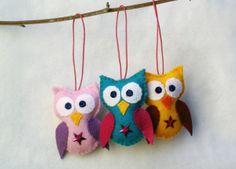 Felt owl crafts -  aww how cute :)