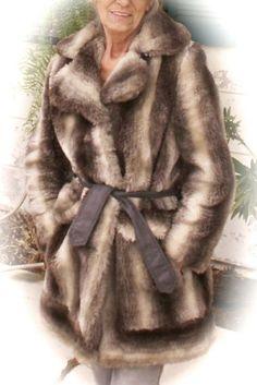 Vintage Faux Fur long Jacket Coat by dagutzyone on Etsy, $125.00