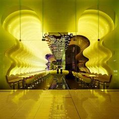 Color Changing Restaurants - Karim Rashid Designs 'Switch' With Undulated Walls (GALLERY)