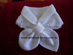 www.anatricocroche.com.br : Gola laço em trico
