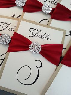Wedding Table Number Cards by TakeNoteCreations on Etsy, $8.95