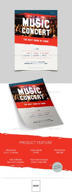 Live Concert Flyer Template V By Lou  Photoshop Psd File