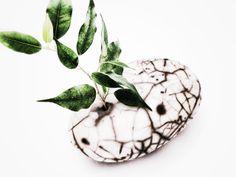 Daniela Rigogliosi Raku Naked Pot with plant