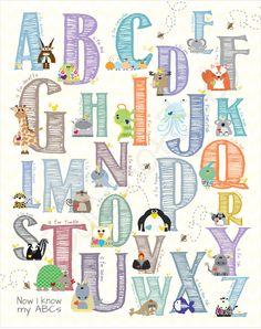 Alphabet nursery - A to Z in 11x14. $20.00, via Etsy.