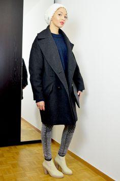 #mercredie #blog #fashion #Blogger #fashionblogger #mode #geneve #geneva #switzerland #suisse #biker #jeans #grey #jennyfer #acne #vanilla #boots #star #pull #on #boots #bottines #cream #crème #oversized #boyfriend #navy #Jumper #sweater #pull #zara #2013 #bonnet #isabelmarant #isabel #marant #coat #manteau #h&m
