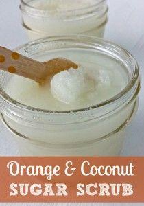 Orange Coconut Sugar Scrub + Free Printable Tag Like this.
