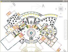 hotel planos plan hotel 5 etoiles hotel 5 s - hotel Restaurant Floor Plan, Hotel Floor Plan, Graphisches Design, Mall Design, Design Ideas, Interior Design, Hotel Design Architecture, Concept Architecture, Education Architecture