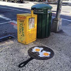 La street-art di Tom Bob è un felice mix di gioia e creatività che rallegra le vie di New York