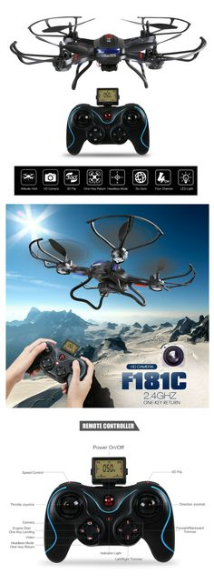 Holy Stone RC Quadcopter Drone with HD Camera RTF 4 Channel with Altitude Hold Function,Headless Mode and One Key Return Home, Color Black Drone With Hd Camera, Flying Drones, Channel 2, Quadcopter Drone, Engine Start, Photography And Videography, Level Up, Remote, Top