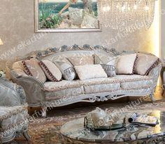 Loveseat Sofa Carved Wood Classic Sofa Store