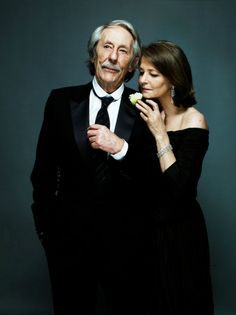 Jean Rochefort and Charlotte Rampling - photo by Nicolas Guerin Older Couple Poses, Couple Posing, Charlotte Rampling, British Actresses, Actors & Actresses, Jean Rochefort, Classy People, Mature Couples, Jean Luc Godard