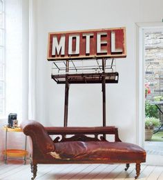 Old Motel Sign Wall Decal on Wanelo
