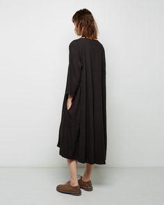 BLACK CRANE | Long Pleats Dress | Shop at La Garçonne