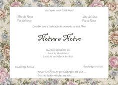 Convite- de- casamento- para- imprimir- 13 Wedding Invitations, Place Card Holders, Continue, Online Gratis, Weddings, Makeup, Fitness, Wedding Blog, Wedding Things